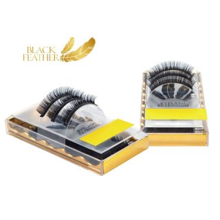 Black Feather Premium Eyelashes CC Curl 0,007 Mix Box ca. 4000 Lashes