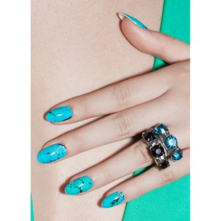 Nail Wraps Truth in turquoise