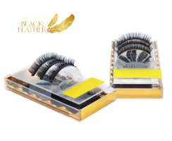 Black Feather Premium Eyelashes CC Curl 0,007 Box 13mm...