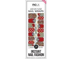 Nail Wraps Crimson Cascade
